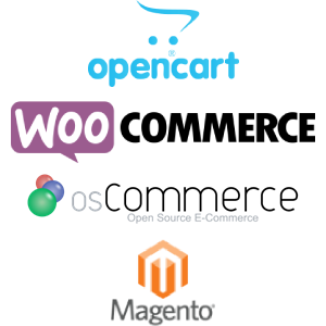 E-commerce options logos