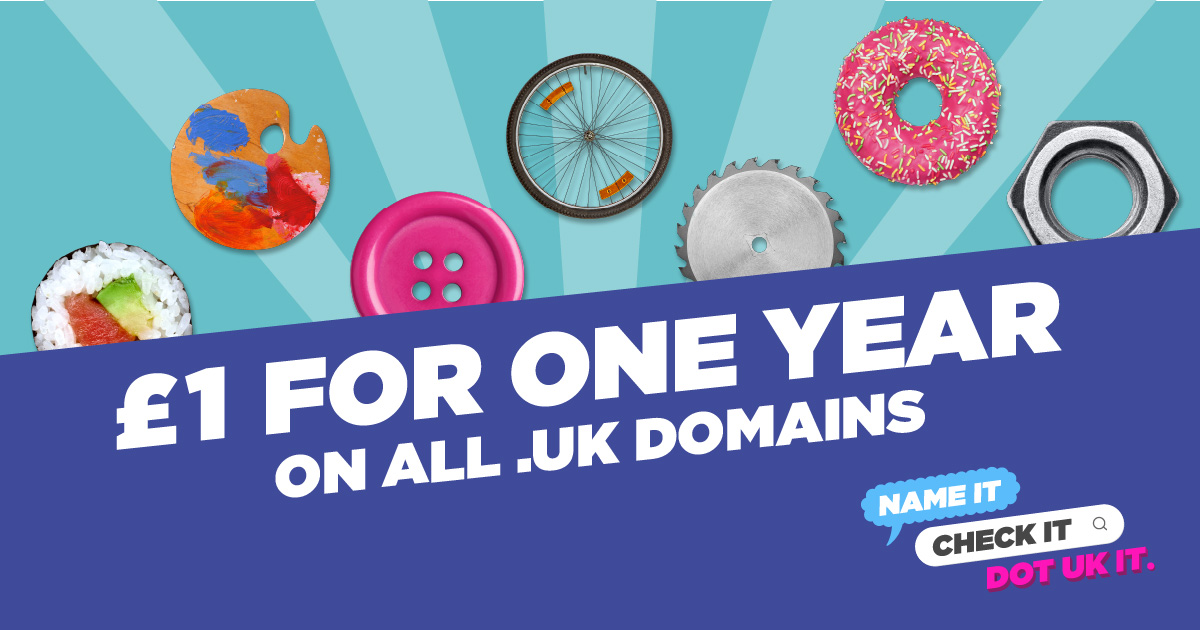 One year registration for £1